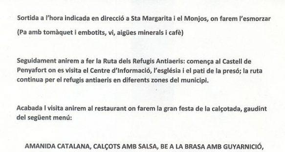 2017 Sortida Santa Margarida i el Monjos